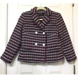 Ann Taylor women tweed blazer size 4P